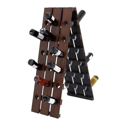 Woodland Imports 36 Bottle Folding Wine Rack