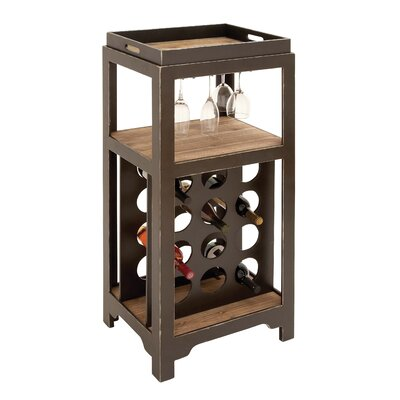 Woodland Imports 12 Bottle Tabletop Wine Cabinet