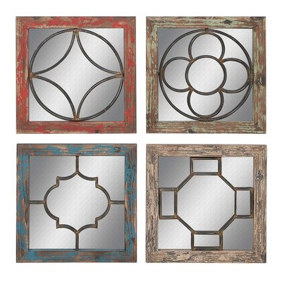 Woodland Imports 4 Piece Wall Mirror Set