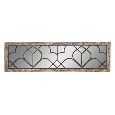 Wood/Metal Wall Decor Mirror