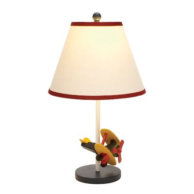 "Woodland Imports Airplane 21"" H Table Lamp with Empire Shade"