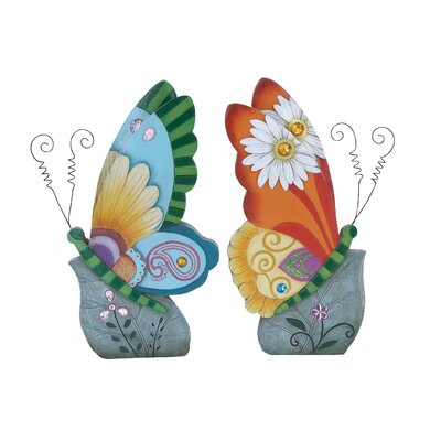 Woodland Imports Beautiful Butterfly Decor Statue