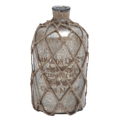 Woodland Imports Glass Jute Bottle