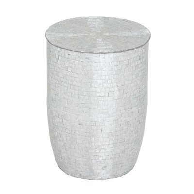 Metal Mirror Mosaic Stool