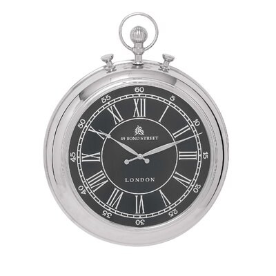 Vintage Traditional Pocket Watch Designed Metal Wall Clock