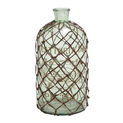 Contemporary Art of Decorative and Netted Glass Bottle Vase