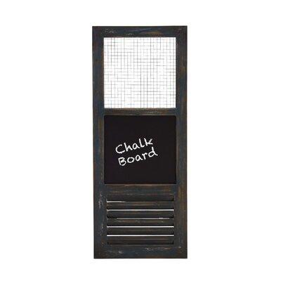 "Woodland Imports American Styled Metal Wall Panel 3' x 1' 3"" Chalkboard"