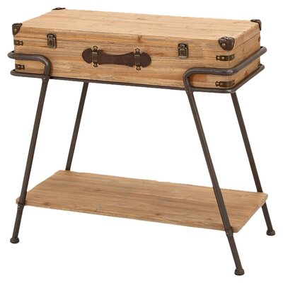 Metal Wood Chest Table