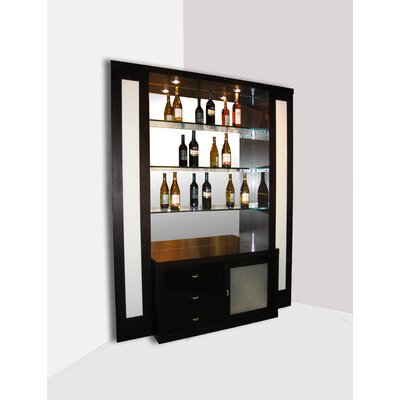 Sharelle Furnishings Elite Corner Back Bar