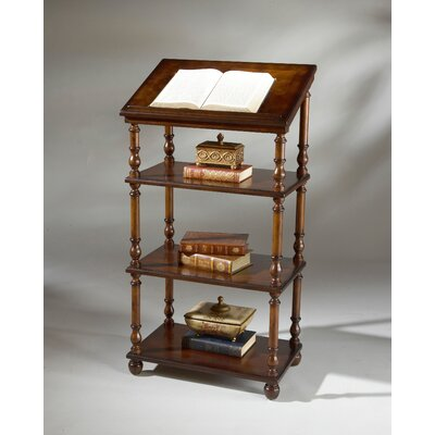 Butler Plantation Cherry Library Stand with Three Shelves