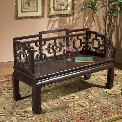 Eastern Inspirations Wooden Entryway Bench