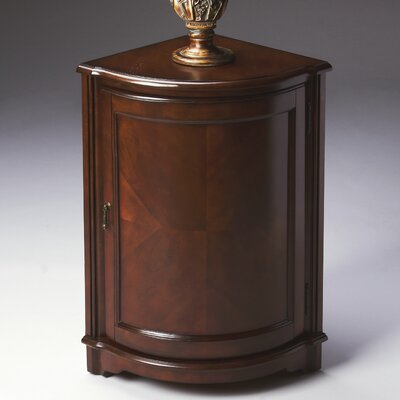 Plantation Cherry Corner Cabinet End Table