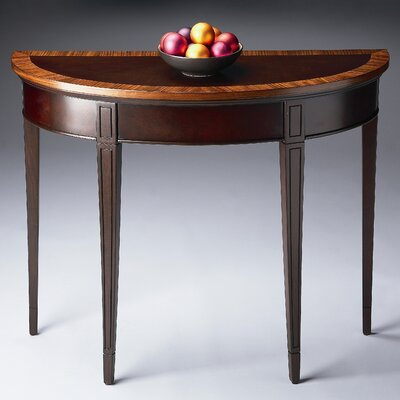 Cherry Nouveau Demilune Console Table