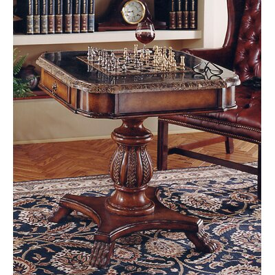 Heritage Antique Pedestal Game Table