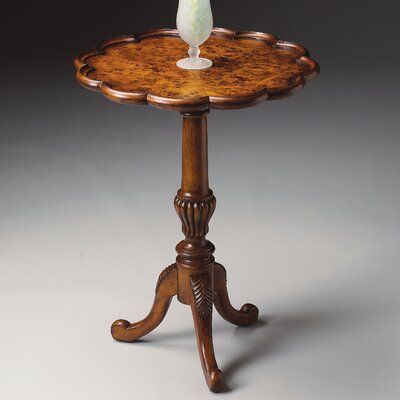 Masterpiece Pedestal End Table in Olive Ash Burl