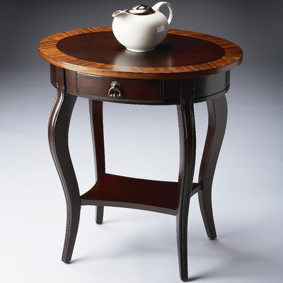 Cherry Nouveau Oval End Table