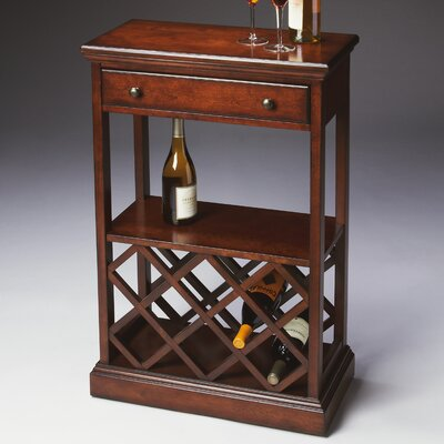Butler Plantation Cherry 8 Bottle Wine Rack