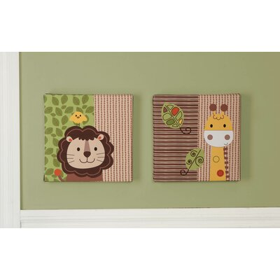 Jungle Walk 2 Piece Canvas Wall Art