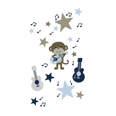 Kids Line Monkey Rockstar Wall Decals