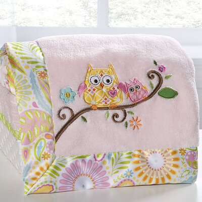 Dena Happi Tree Embroidered Boa Blanket