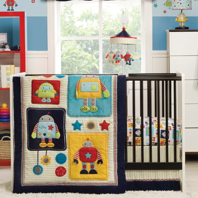 Robots Play Crib Bedding Collection