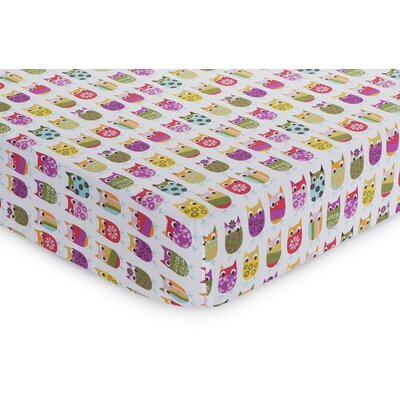 Zutano Owls Fitted Sheet