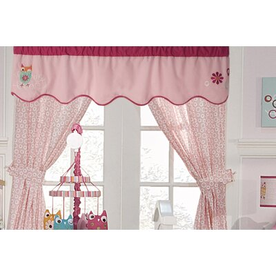Zutano Owls Cotton Blend Curtain Valance