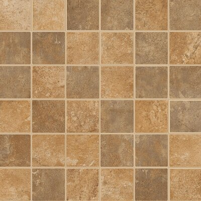 "Florim USA Woodlands 12"" x 12"" Mosaic in Spring Valley/Autumn Creek"