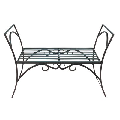 ACHLA Arbor Wrought Iron Garden Bench