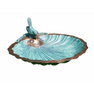 ACHLA Scallop Shell Birdbath
