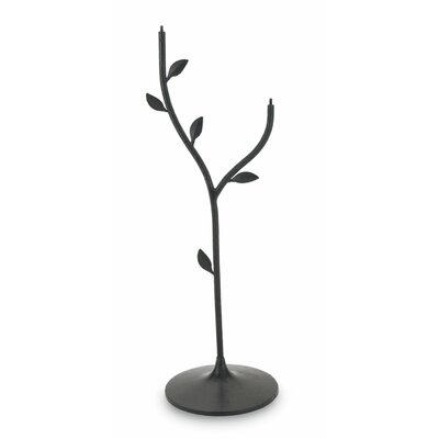Double Bowl Iron Leaf Stand