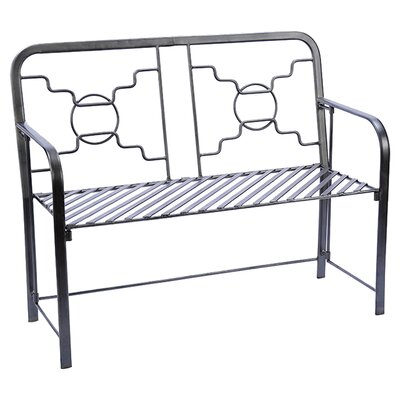 <strong>ACHLA</strong> Bows and Circles Wrought Iron Garden Bench