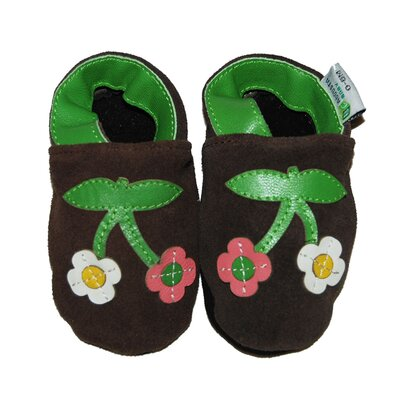 Augusta Baby Two Cherry Blossoms Soft Sole Leather Baby Shoes
