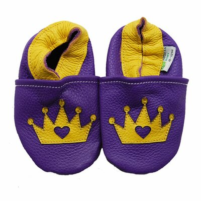 Little Princess Crown Soft Sole Leather Baby Shoes