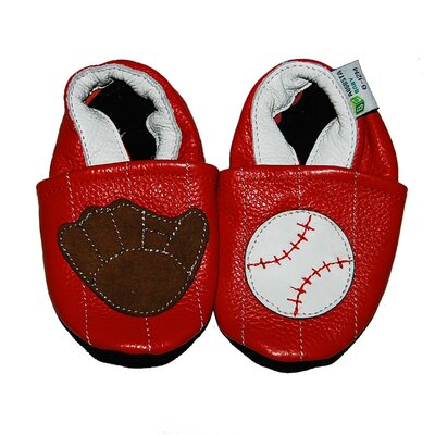 Augusta Baby Baseball and Mitt Soft Sole Leather Baby Shoes