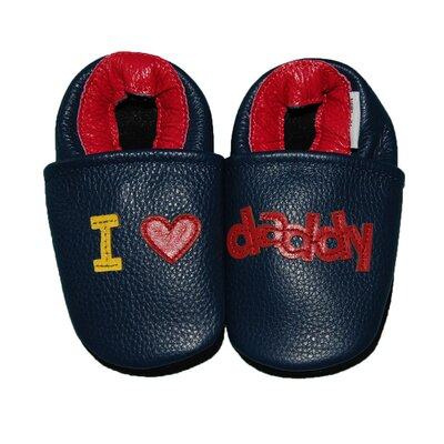 Augusta Baby I Love Daddy Soft Sole Leather Baby Shoes