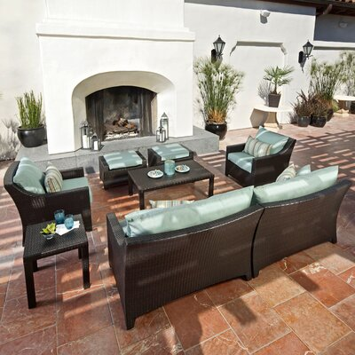 RST Outdoor Bliss 8 Piece Deep Seating Group with Cushions