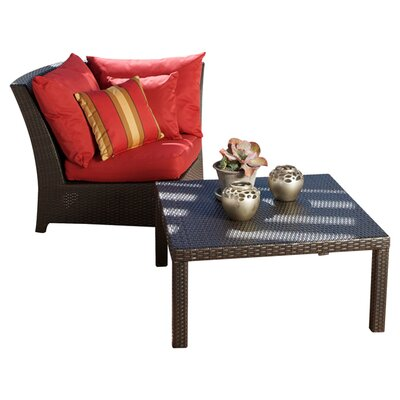 RST Outdoor Cantina Deep Seeting Corner Chair with Cushions and Coffee Table