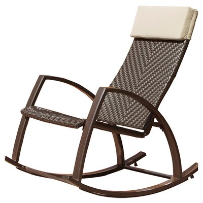 RST Brands Outdoor Barcelona Wicker Rocker Chair Reviews Wayfair
