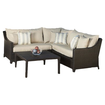 RST Outdoor Slate 4 Piece Deep Seating Group with Cushions