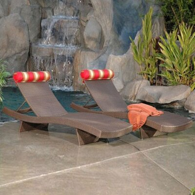 RST Outdoor Cantina Chaise Lounge with Cushion (Set of 2)