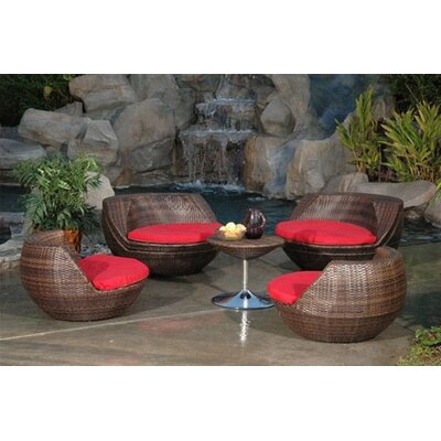 RST Outdoor Cantina 5 Piece Lounge Seating Group with Cushions