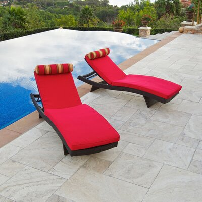 RST Outdoor Cantina Wave Lounger  with Cushion (Set of 2)