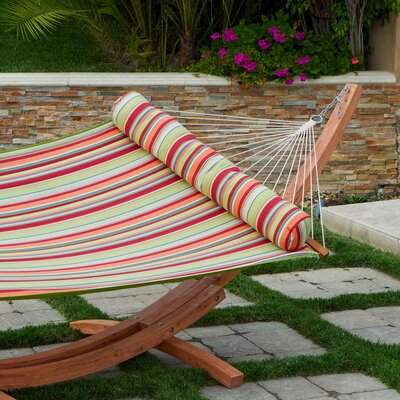 Summer Stripe Poly Hammock Bed with Stand