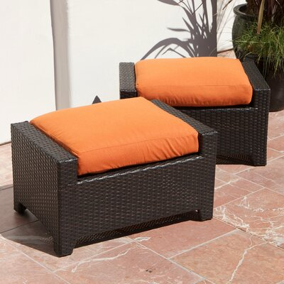 RST Outdoor Tikka Club Ottoman with Cushion (Set of 2)
