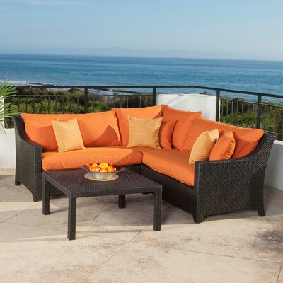 RST Outdoor Tikka 4 Piece Deep Seating Group with Cushions