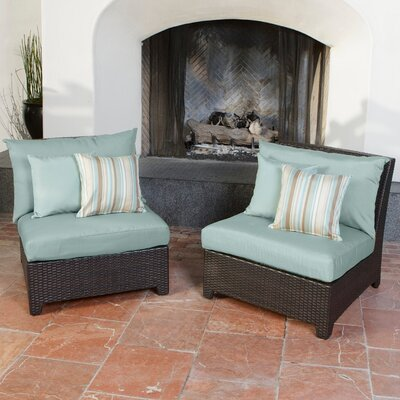 RST Outdoor Bliss Armless Sectional Piece with Cushions (Set of 2)