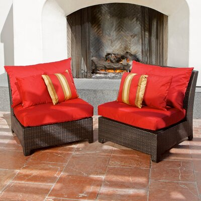 RST Outdoor Cantina Armless Sectional Piece with Cushions (Set of 2)
