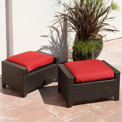 RST Outdoor Cantina Club Ottoman with Cushion (Set of 2)