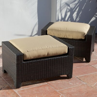 RST Outdoor Delano Club Ottoman with Cushion (Set of 2)